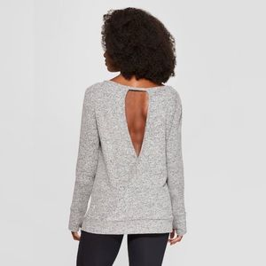 Long Sleeve Open Back Active Top